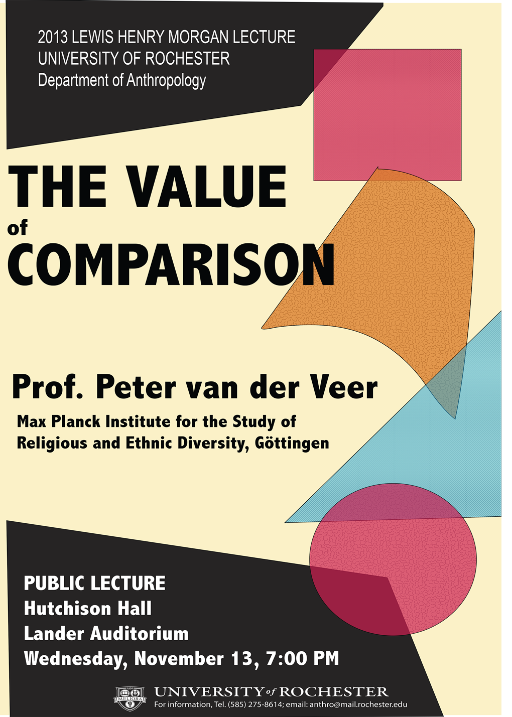 2013 Morgan Lecture Poster