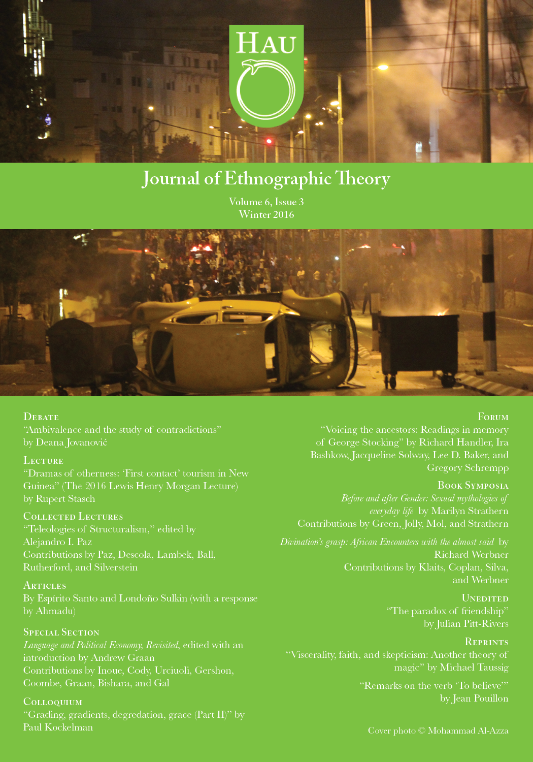 HAU - Journal of Ethnographic Theory
